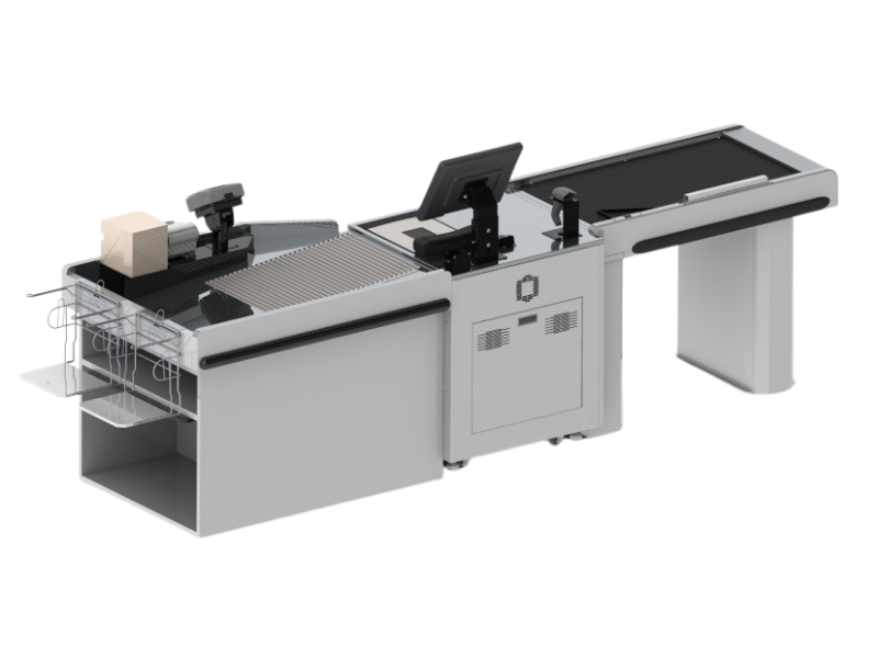 Gray Belted Self-Checkout, Back Side View