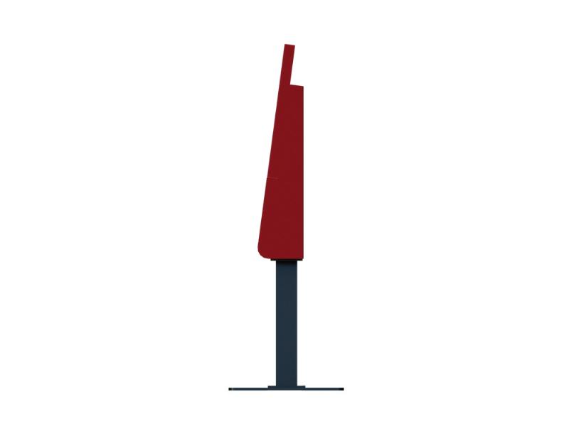 Red Kiosk, Side View, Freestanding