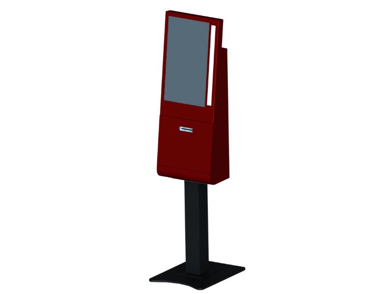 Kiosk, Side View, FreestandingKiosk