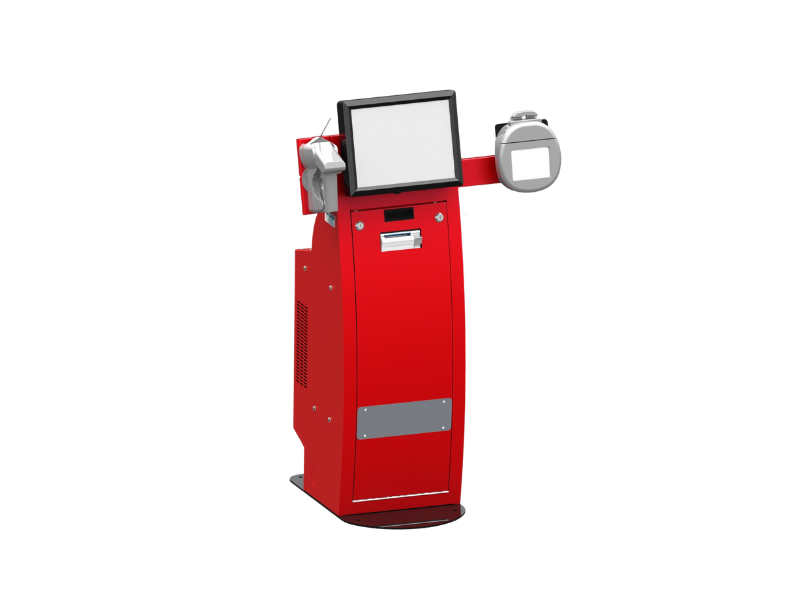 Red Self-Service Kiosk