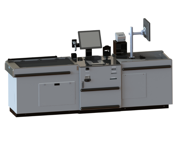 Gray Belted Self-Checkout